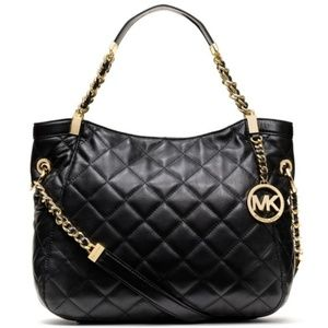 Michael Kors Susannah Medium Quilted Leather Tote